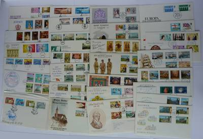(Ref: T513) JERSEY, GUERNSEY, ISLE OF MAN ILLUSTRATED FIRST DAY COVER ACCUMULATION
