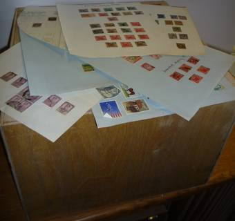 (Ref: T554) GREAT BRITAIN & COMMONWEALTH WOODEN HALF TEA CHEST